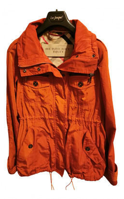 Burberry Orange Polyester Trench coats