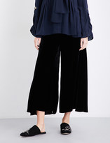 Peter Pilotto High-rise wide velvet trousers