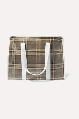 Kassl Editions - Medium Checked Coated-canvas Tote - Gray