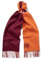 Loewe - Colour-block Wool And Angora-blend Scarf