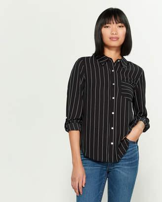 Nanette Lepore Nanette Long Sleeve Button-Down Striped Shirt