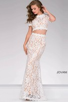 Jovani Fitted Two-Piece Lace Prom Dress 50880