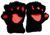 Plush Gloves - SODIAL(R) Womens Lovely Cat Claw Paw Plush Glove Gift