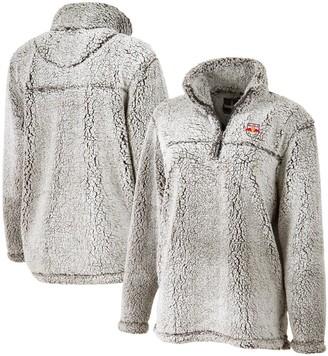 Women's Gray New York Red Bulls Sherpa Quarter-Zip Pullover Jacket