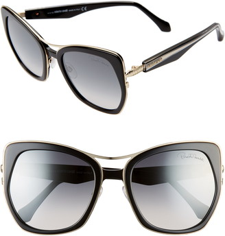 Roberto Cavalli 55mm Gradient Cat Eye Sunglasses