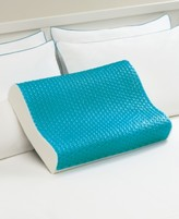 Comfort Revolution Comfort Revolution Cool Comfort Memory Foam Contour Pillow, Heat Minimizing HydraluxeTM Gel & Open Cell Ventilated