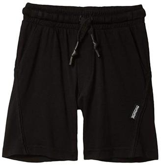 Nununu Diagonal Light Shorts (Little Kids/Big Kids) (Black) Boy's Shorts