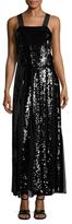Tibi Eclair Silk Sequin Gown