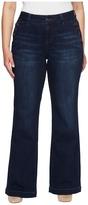 Jag Jeans Plus Size Farrah Wide Leg Crosshatch Denim in Night Breeze Women's Jeans