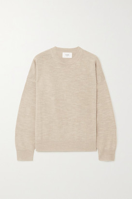 Bassike Oversized Linen And Cotton-blend Sweater - Tan