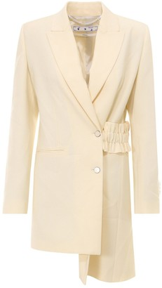 Off-White Belt-Detailed Asymmetric Jacket