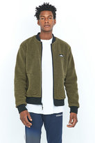 Penfield Prescott Olive And Black Fleece Bomber Jacket