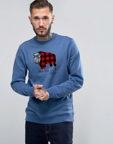 Columbia Crew Sweatshirt Check The Buffalo Print