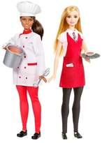 Barbie Careers Chef and Waiter Doll 2pk