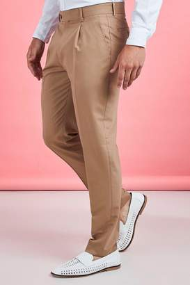 boohoo Pleat Front Plain Smart Trouser