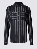 Marks and Spencer Striped Long Sleeve Shirt
