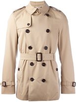 Burberry belted short trench coat - men - Cotton/Viscose - 48