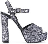 Karl Lagerfeld glitter platform sandals