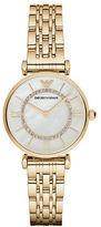 Emporio Armani Goldtone Stainless Steel Link Bracelet Watch