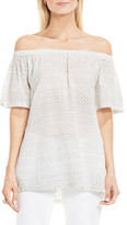 Vince Camuto Delicate Etchings Off-the-Shoulder Shirt