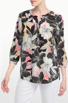 NYDJ Floral Mirage Print 3/4 Sleeve Blouse