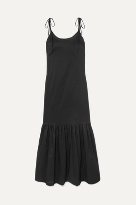 Marios Schwab On The Island By Montserrat Cotton-blend Poplin Maxi Dress - Black