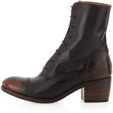 Frye Felicity Lace-Up Mid-Calf Boot, Dark Brown