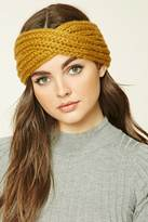 Forever 21 Ribbed Knit Crisscross Headwrap