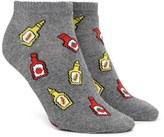Forever 21 FOREVER 21+ Ketchup Print Ankle Socks