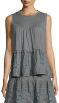 The Great The Jubilee Embroidered Tank, Gray