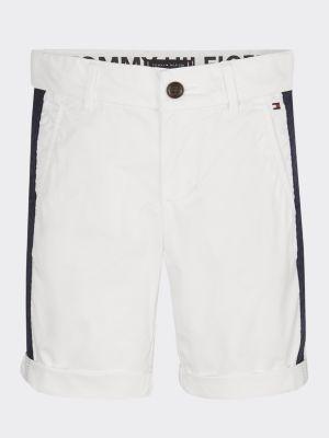 Tommy Hilfiger Tape Trim Cotton Chino Shorts