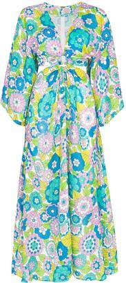 Dodo Bar Or Shelly cutout floral-print dress