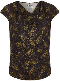 Thumbnail for your product : Komodo Olive and Black Sens Rayon Top - Olive and Black | Size 1 (UK8)