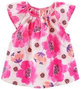 Osh Kosh Toddler Girl Plaid Cap Sleeve Blouse Top