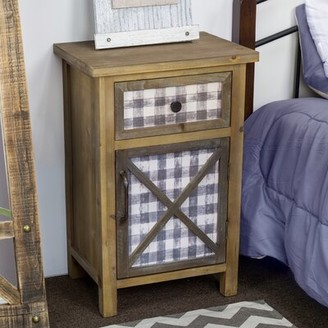 August Groveâ® DAcor Furniture Rustic Wooden Bedside End Table with Storage August GroveA