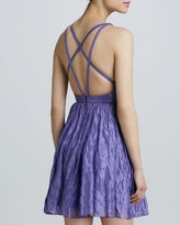 Nicole Miller Sleeveless Strappy-Back Cocktail Dress