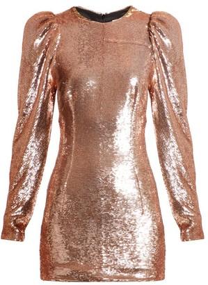 Alexandre Vauthier Puff-sleeved Sequin Mini Dress - Light Pink