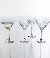 Mikasa Cheers Striped, Swirled & Dotted Martini Glasses, Set of 4
