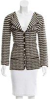 Oscar de la Renta Knit Striped Jacket