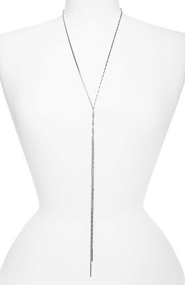 Halogen Twisted Snake Chain Y-Necklace