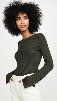 Autumn Cashmere Ribbed Crew Pullover