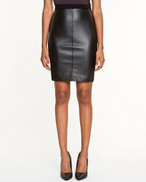Le Château Leather-Like & Ponte Pencil Skirt
