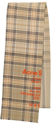 Acne Studios Checked wool scarf