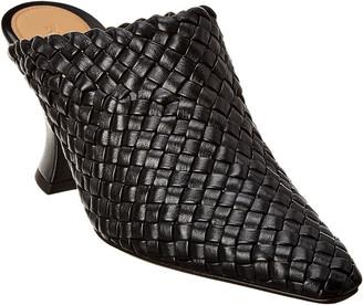 Bottega Veneta Almond Intrecciato Leather Mule