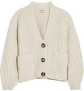 Acne Studios Hadlee Oversized Wool-blend Cardigan - Off-white