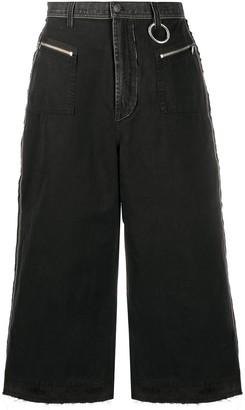 Diesel Wide-Leg Denim Culottes
