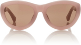 Dries Van Noten Pink Cat-Eye Acetate Sunglasses