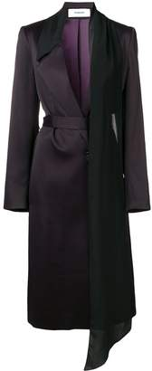 Chalayan Scarf Detail Belted Coat