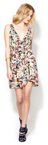 Alice + Olivia Ashby Silk Sleeveless Wrap Dress
