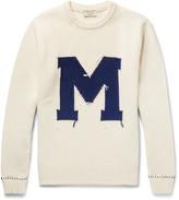 Maison Kitsuné - Intarsia Wool Sweater